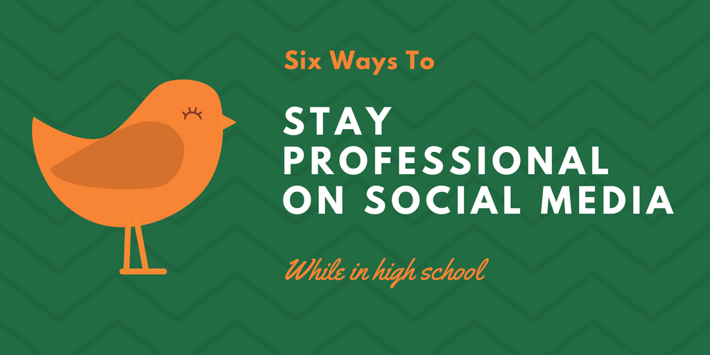 stay professional on social media