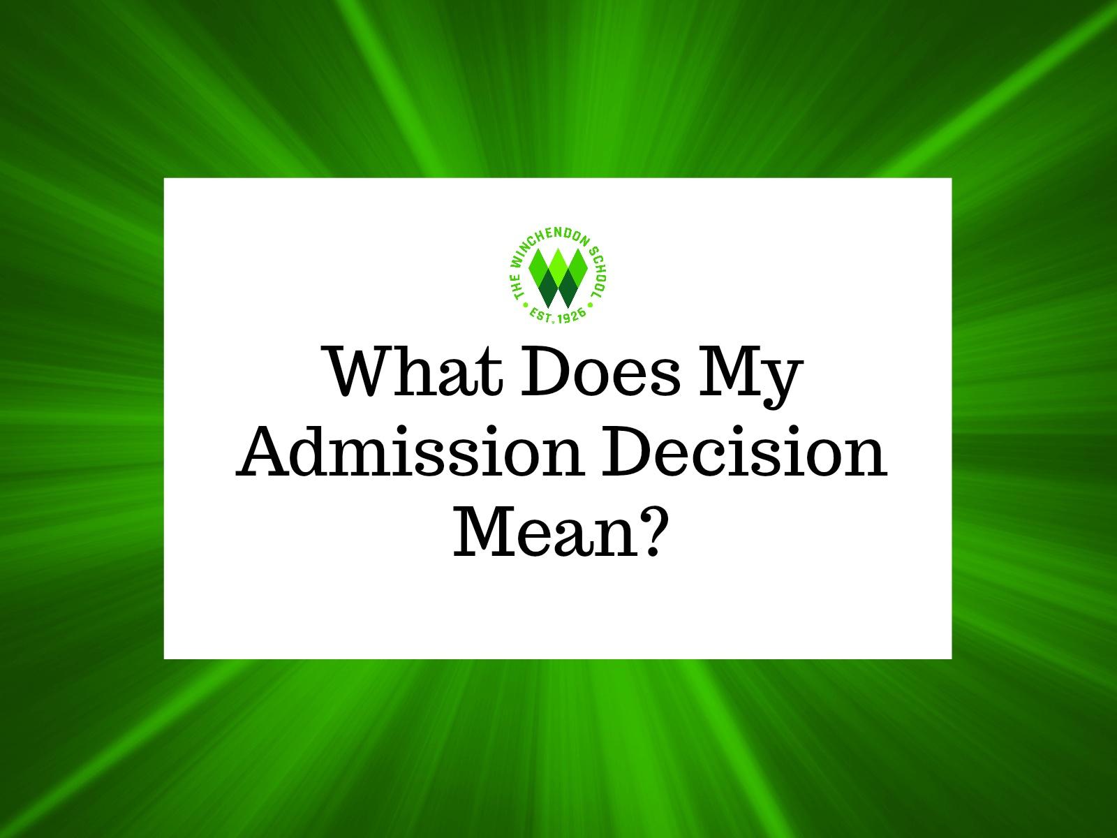 admin decision